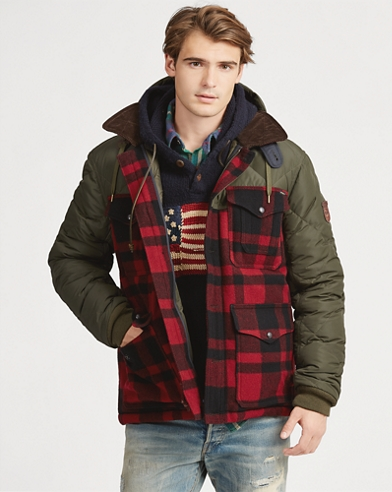 Plaid Hybrid Coat