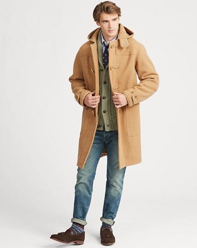 Wool Twill Hooded Duffel Coat