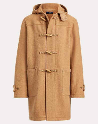 Wool Twill Hooded Duffel Coat