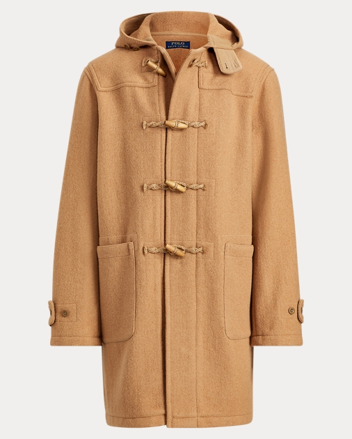 b27cd5a77 Wool Twill Hooded Duffel Coat