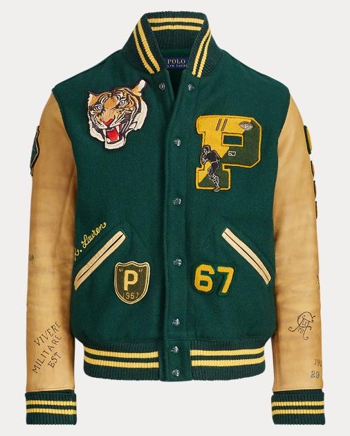 e91c33efb Wool-Blend Letterman Jacket