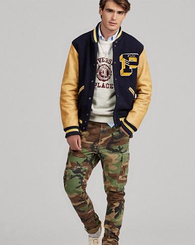 Wool-Blend Letterman Jacket