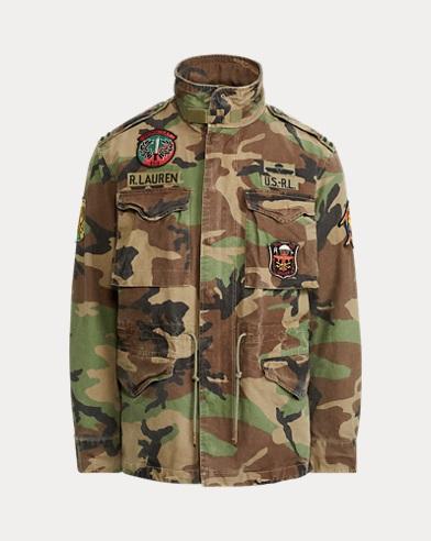 Feldjacke mit Camouflage-Muster