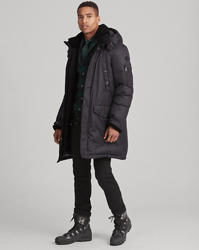 Shearling-Trim Down Parka