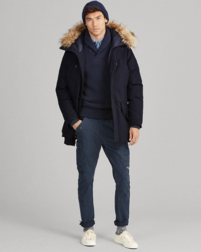 Faux Fur-Trim Down Parka