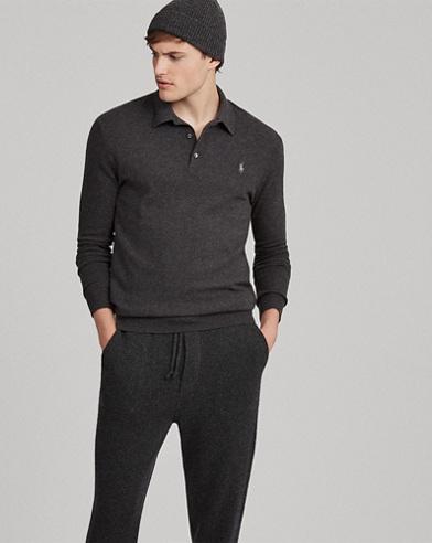 Washable Cashmere Polo jumper