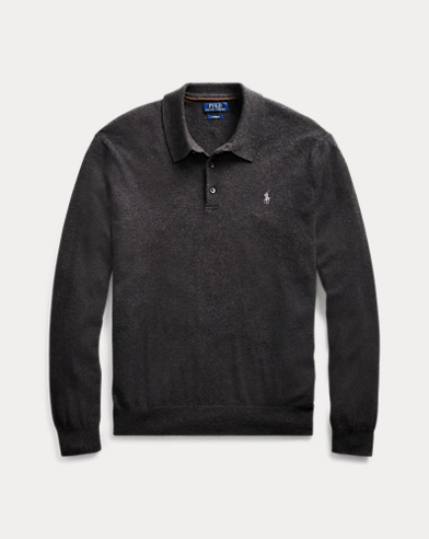 Washable Cashmere Polo jumper