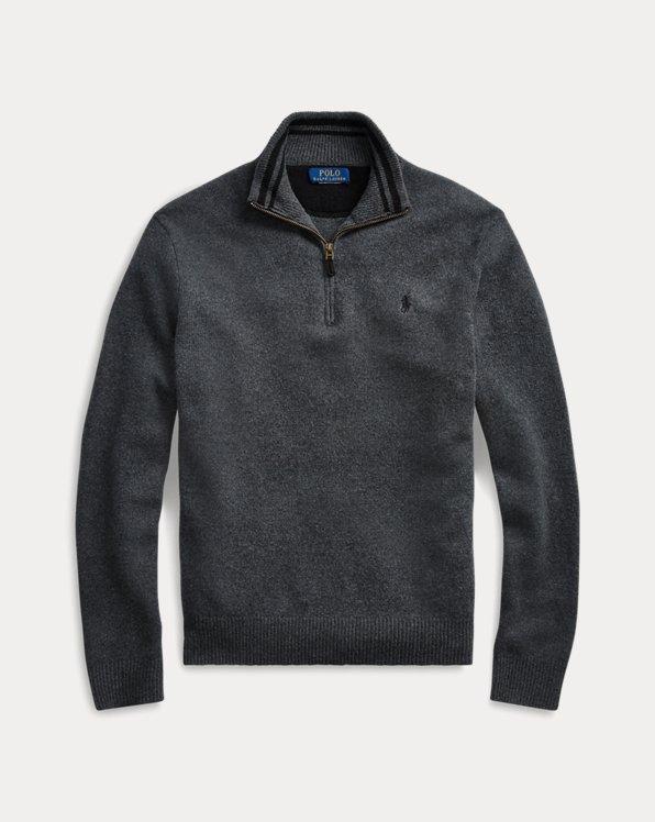 Wool-Blend Quarter-Zip Sweater