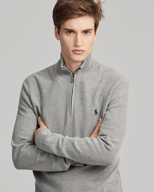 Cotton Half Zip Sweater Ralph Lauren