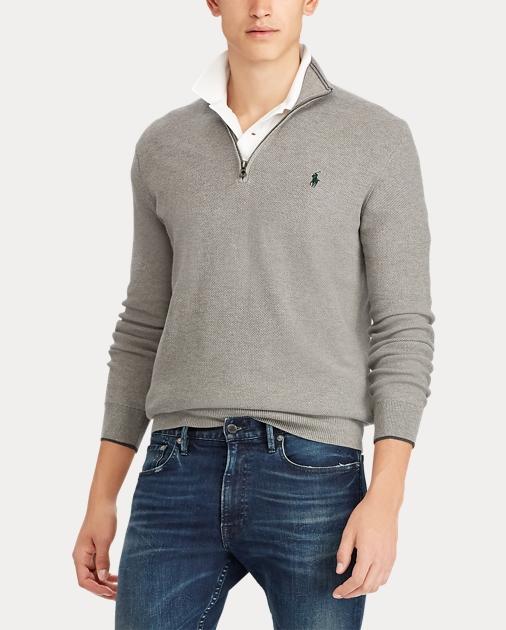 Cotton Half Cotton Half Zip Cotton Zip Sweater Zip Sweater Cotton Half Half Sweater LAR5jq34