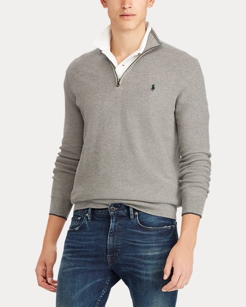 Cotton Half Zip Sweater
