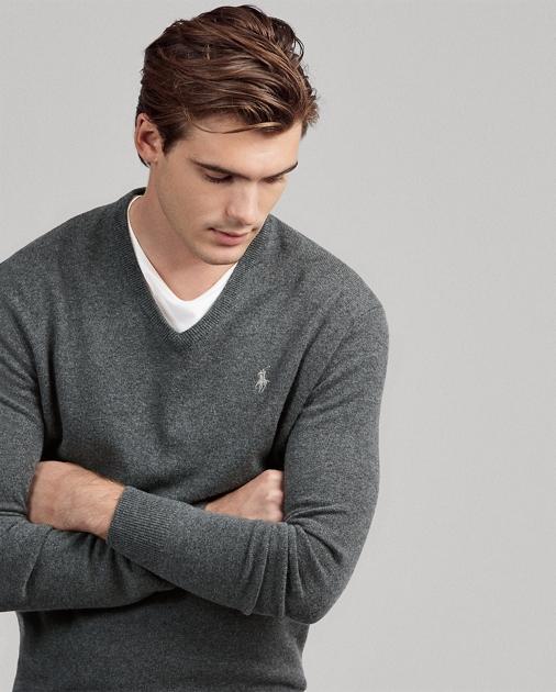 ac64b14b Merino Wool V-Neck Sweater