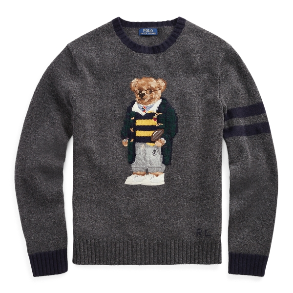 ralph lauren polo bear sweater with duffle coat