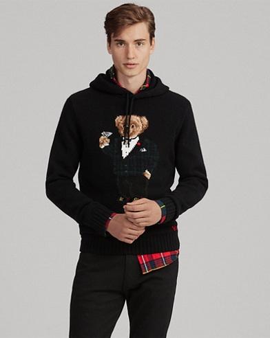 Martini Bear Hooded Sweater