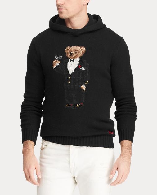 6aa9f132 Martini Bear Hooded Sweater