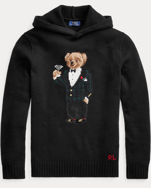 Martini Hooded Sweater Martini Bear Bear Hooded fY6b7yg