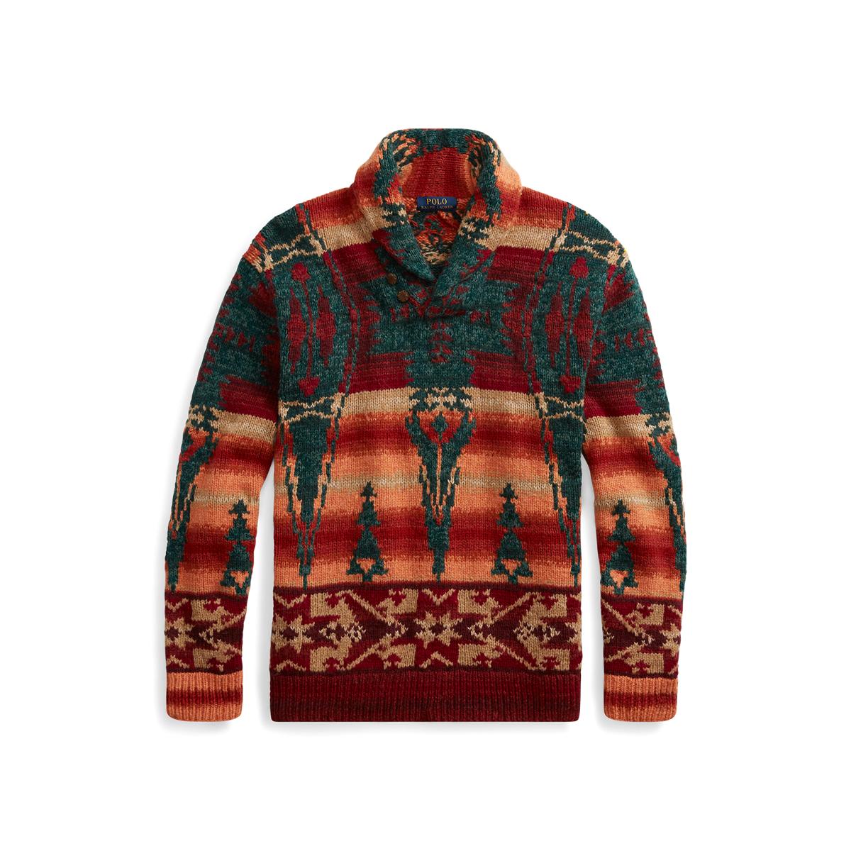 medio litro Acostado avance  Southwestern Shawl Sweater