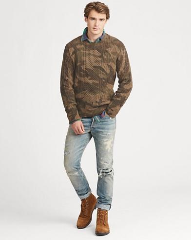 Camo Aran-Knit WoolJumper