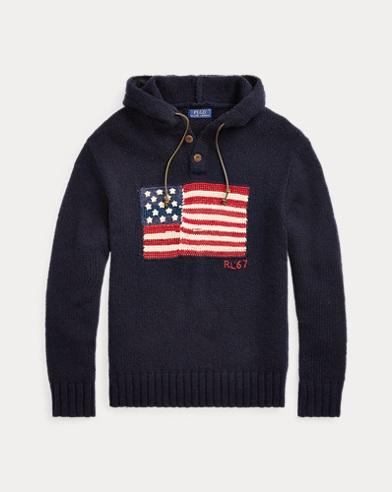 Flag Wool-Blend Hoodie