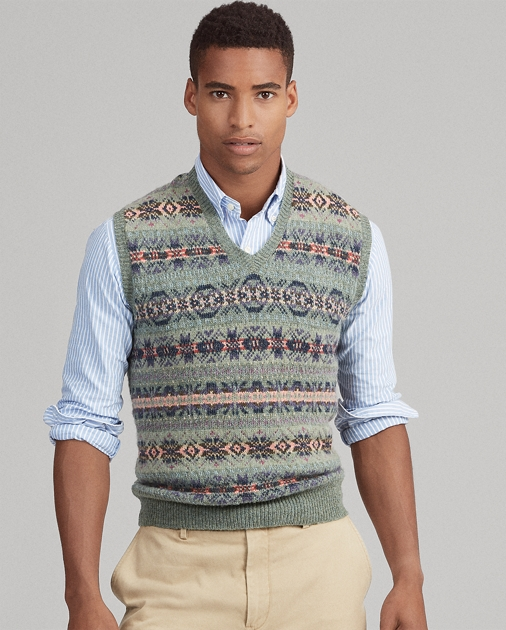 9bee989aaad3 Fair Isle Wool-Blend Vest