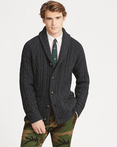 Cable Wool-Cashmere Cardigan