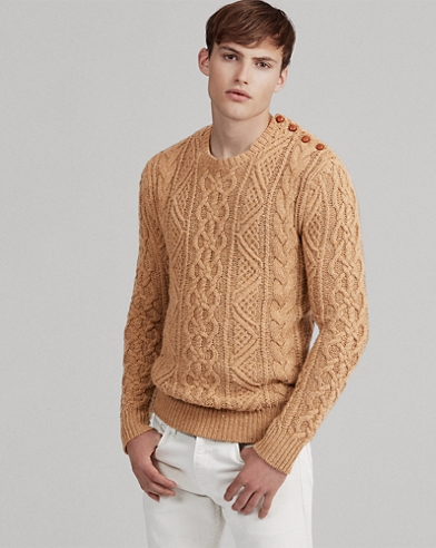 Cable-Knit Merino Wool Jumper