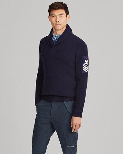Wool Shawl-Collar Sweater