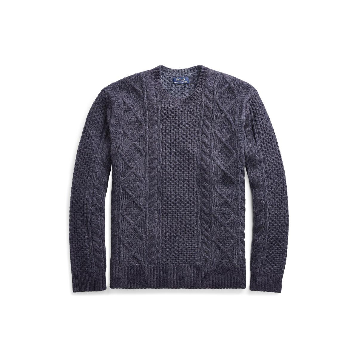 bdbfbf86e0e08c Aran-Knit Wool Sweater
