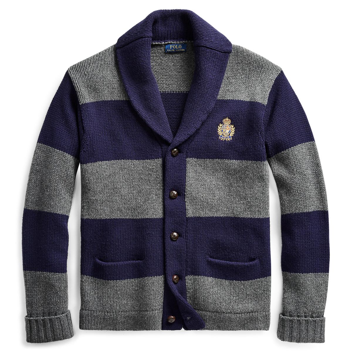 44c275cf5 Striped Merino Wool Cardigan