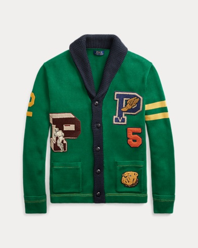 Cotton Letterman Cardigan. Polo Ralph Lauren