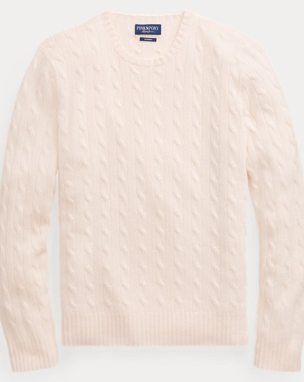 Pink Pony Cable-Knit Cashmere Sweater