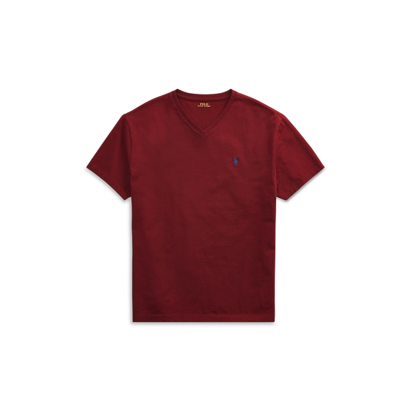 Ralph Lauren Classic Fit V-Neck T-Shirt Classic Wine 2Xl Tall
