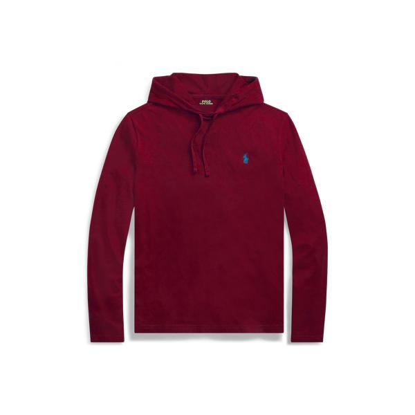 Ralph Lauren Cotton Jersey Hooded T-Shirt Classic Wine 2X Big