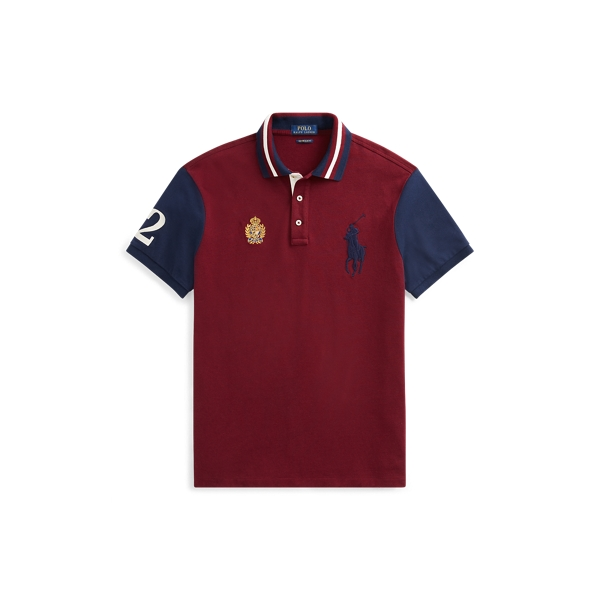 Ralph Lauren Classic Fit Mesh Polo Shirt Classic Wine Multi 1X Big