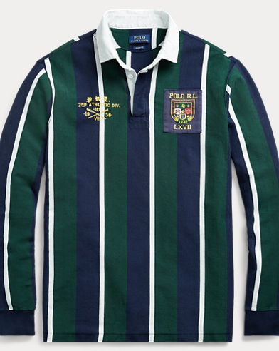 Camicia rugby in cotone Classic-Fit