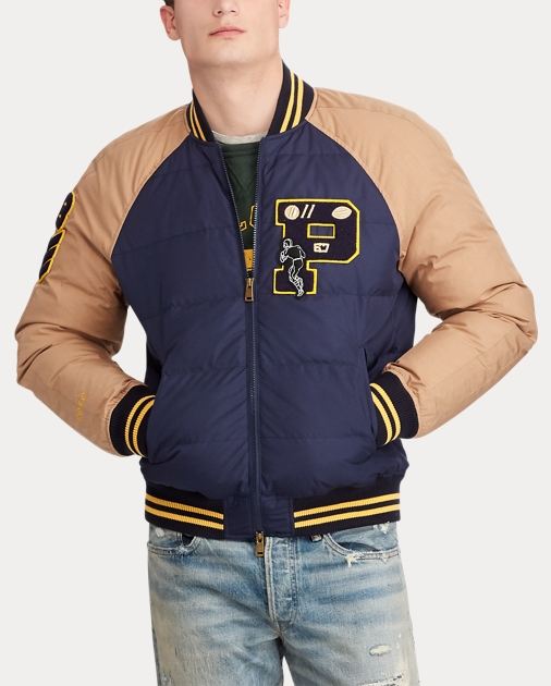 e023871803 Down Letterman Jacket
