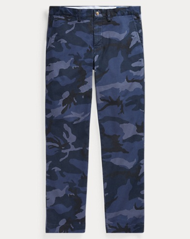 Stretch Classic Fit Camo Chino