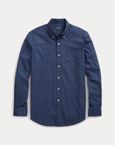 Classic Fit Print Poplin Shirt