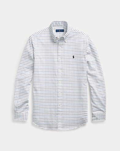 Camisa de sarga classic fit con cuadros