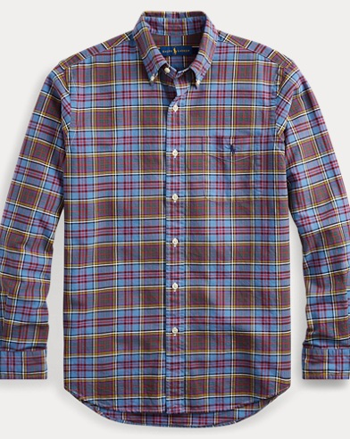 Classic Fit Plaid Oxford Shirt