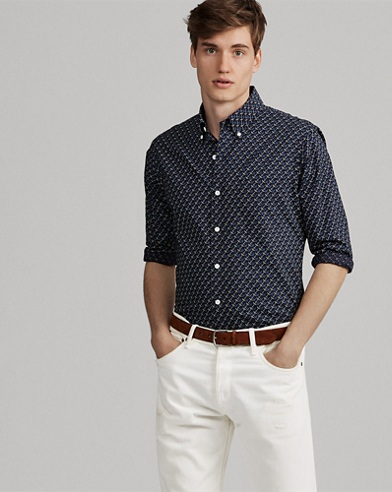Classic Fit Anchor-Print Shirt