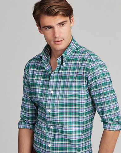 Classic Fit Plaid Twill Shirt