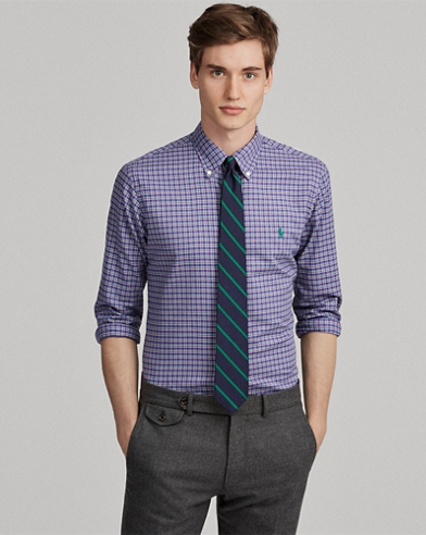 Slim Fit Plaid Twill Shirt