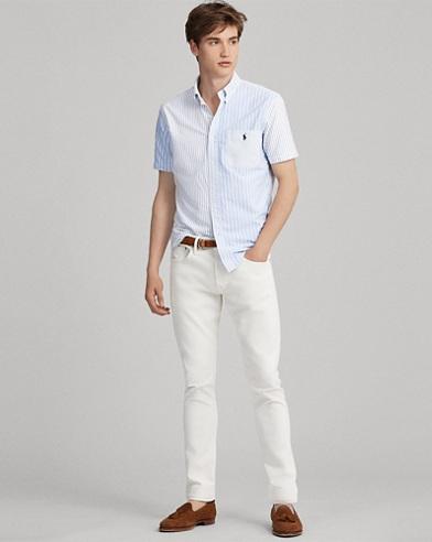Polo Ralph Lauren Slim Fit Oxford Long Sleeve Sport Shirt Bayside Green