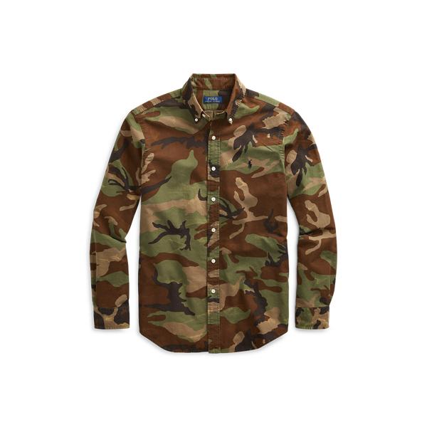 Ralph Lauren Classic Fit Camo Oxford Shirt Surplus Camo L