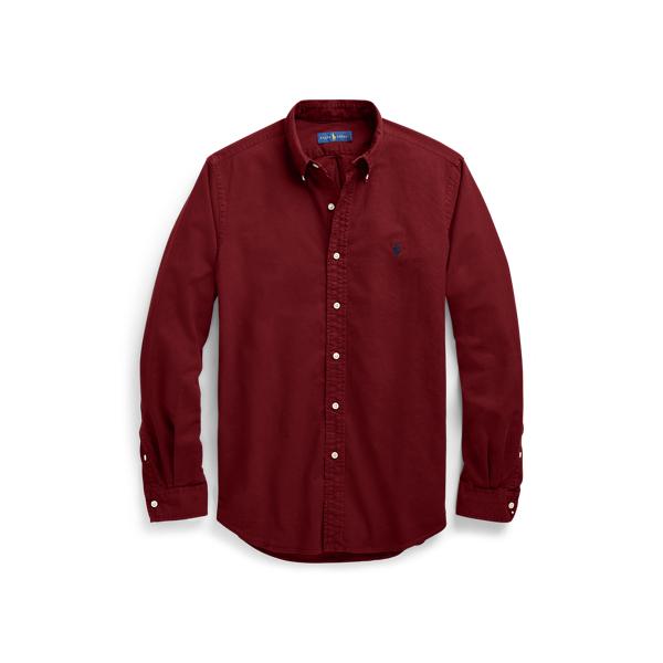 Ralph Lauren Slim Fit Oxford Shirt Classic Wine L