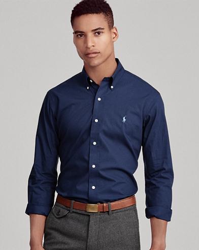 Camicia in popeline Classic-Fit