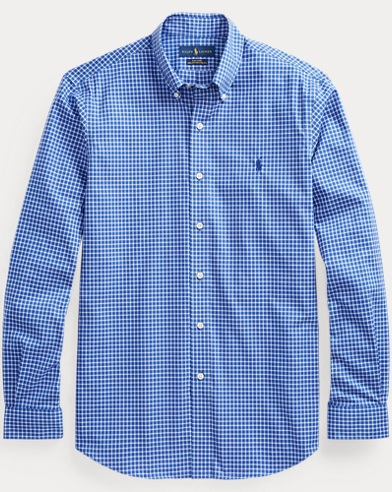 Classic Fit Plaid Poplin Shirt