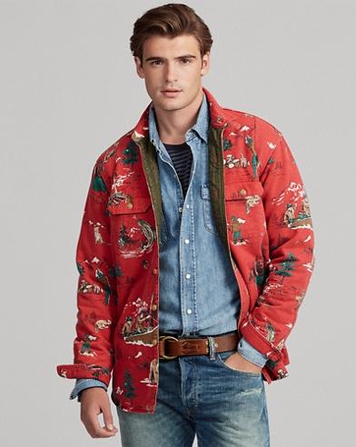 Print Sateen Shirt Jacket