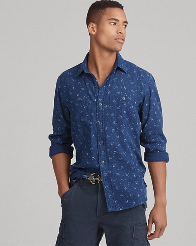 Classic Fit Indigo Workshirt